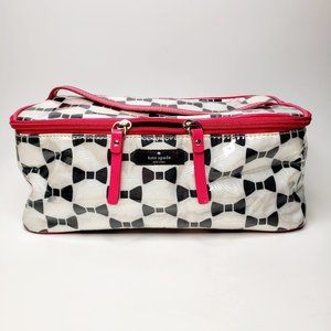 Kate Spade Black and White Large Cosmetic Bag